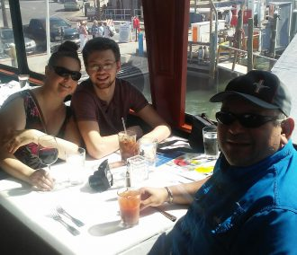 Family dining on clearwater cruise