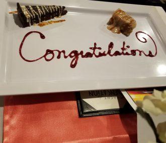 Congratulations Dessert