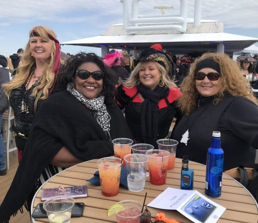 women on gasparilla cruise