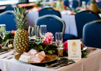 decorative wedding table scape