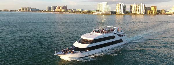 dinning yacht cruising the waters